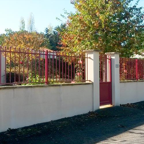 Pose de portail clôture de jardin Gétigné Sud Loire